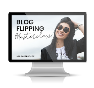 what is blog flipping course